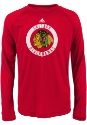 Chicago Blackhawks Youth Red Practice Graphic Long Sleeve T-Shirt