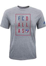FC Dallas Boys Grey Framed Short Sleeve T-Shirt