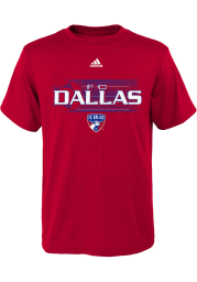 FC Dallas Youth Red Flying Ball Short Sleeve T-Shirt