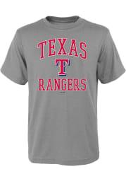 Texas Rangers Youth Grey #1 Design Short Sleeve T-Shirt