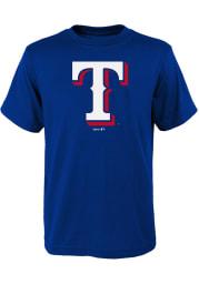 Texas Rangers Youth Blue Secondary Short Sleeve T-Shirt