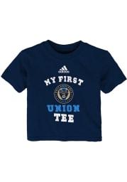 Philadelphia Union Infant My First Short Sleeve T-Shirt Navy Blue
