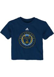 Philadelphia Union Infant Primary Short Sleeve T-Shirt Navy Blue