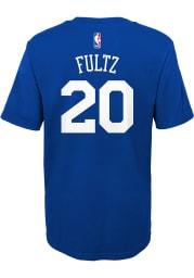 Markelle Fultz Philadelphia 76ers Youth Blue Player Player Tee