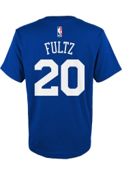 Markelle Fultz Philadelphia 76ers Boys Blue Player Short Sleeve T-Shirt