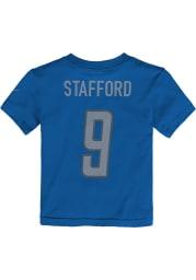 Matthew Stafford Detroit Lions Boys Blue Player Short Sleeve T-Shirt