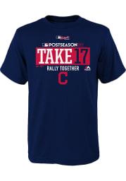 Cleveland Indians Youth Navy Blue Take October Short Sleeve T-Shirt