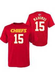 Patrick Mahomes Kansas City Chiefs Youth Red Mainliner Player Tee