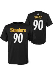 TJ Watt Pittsburgh Steelers Boys Black Player Short Sleeve T-Shirt