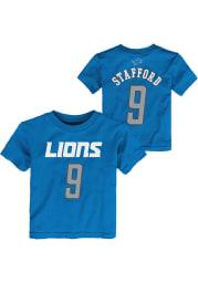 Matthew Stafford Detroit Lions Toddler Blue Player Short Sleeve Player T Shirt