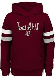 Texas A&M Aggies Girls Maroon Claim to Fame Long Sleeve Hooded Sweatshirt