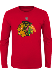 Chicago Blackhawks Youth Red Primary Logo Long Sleeve T-Shirt