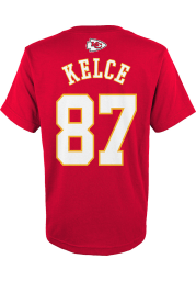 Travis Kelce Kansas City Chiefs Youth Red Player Player Tee