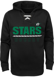Dallas Stars Youth Black Lace Em Up Long Sleeve Hoodie