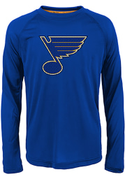 St Louis Blues Youth Blue Grinder Long Sleeve T-Shirt