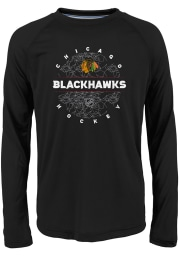 Chicago Blackhawks Youth Red Power Play Long Sleeve T-Shirt