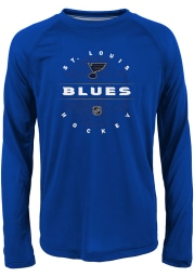 St Louis Blues Youth Blue Power Play Long Sleeve T-Shirt