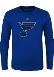 St Louis Blues Youth Blue Distressed Logo Long Sleeve T-Shirt
