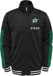 Dallas Stars Youth Black Goal Line Long Sleeve Track Jacket