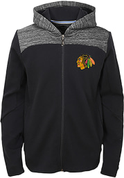 Chicago Blackhawks Youth Red Centripedal Long Sleeve Full Zip Jacket