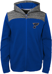 St Louis Blues Youth Blue Centripedal Long Sleeve Full Zip Jacket