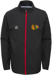Chicago Blackhawks Youth Black Prevail Light Weight Jacket