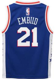Joel Embiid Outer Stuff Philadelphia 76ers Boys Blue Road Basketball Jersey