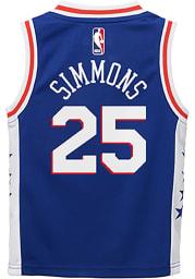 Ben Simmons Outer Stuff Philadelphia 76ers Boys Blue Road Basketball Jersey