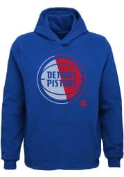 Detroit Pistons Youth Blue Vortex Long Sleeve Hoodie
