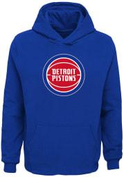 Detroit Pistons Boys Blue Primary Long Sleeve Hooded Sweatshirt