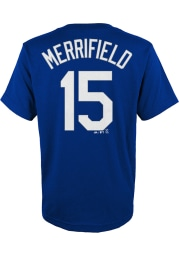 Whit Merrifield Kansas City Royals Youth Blue Name and Number Player Tee
