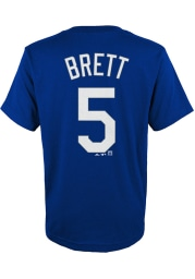 George Brett Kansas City Royals Youth Blue Name and Number Player Tee