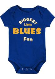 St Louis Blues Baby Blue Biggest Little Fan Short Sleeve One Piece