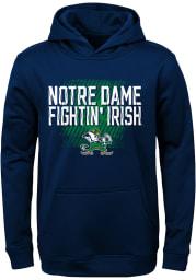 Notre Dame Fighting Irish Youth Navy Blue Attitude Long Sleeve Hoodie
