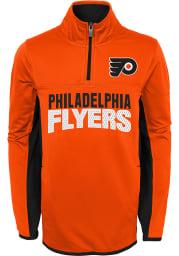 Philadelphia Flyers Boys Orange Netminder Long Sleeve 1/4 Zip Pullover