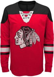 Chicago Blackhawks Boys Red Perennial Long Sleeve Crew Sweatshirt
