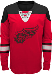 Detroit Red Wings Boys Red Perennial Long Sleeve Crew Sweatshirt