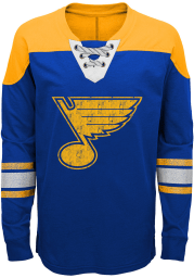 St Louis Blues Boys Blue Perennial Long Sleeve Crew Sweatshirt