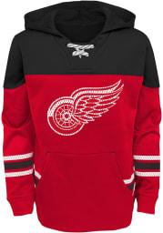 Detroit Red Wings Boys Red Freezer Long Sleeve Hooded Sweatshirt