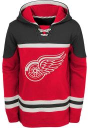Detroit Red Wings Boys Red Asset Long Sleeve Hooded Sweatshirt
