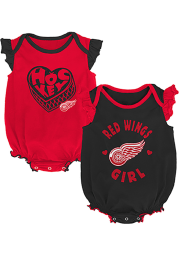 Detroit Red Wings Baby Red Hockey Kids Set One Piece