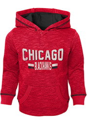 Chicago Blackhawks Toddler Red Tiny Enforcer Long Sleeve Hooded Sweatshirt