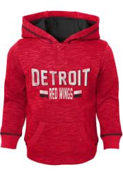 Detroit Red Wings Toddler Red Tiny Enforcer Long Sleeve Hooded Sweatshirt