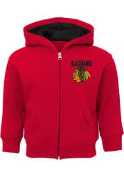 Chicago Blackhawks Toddler Enforcer Long Sleeve Full Zip Sweatshirt - Red