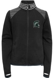 Michigan State Spartans Girls Green Aviator Long Sleeve Full Zip Jacket