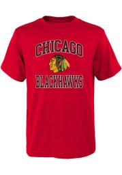 Chicago Blackhawks Youth Red Ovation Short Sleeve T-Shirt