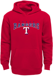 Texas Rangers Youth Red Fadeout Long Sleeve Hoodie