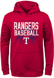 Texas Rangers Youth Red Attitude Long Sleeve Hoodie