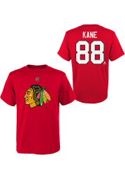 Patrick Kane Chicago Blackhawks Youth Red Name and Number Player Tee