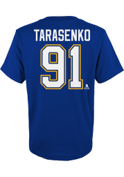 Vladimir Tarasenko St Louis Blues Youth Blue Name and Number Player Tee